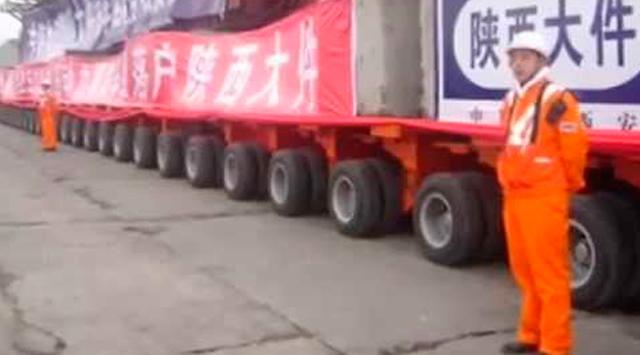 Длинный китайский тягач