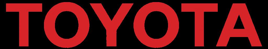 Текстовый логотип Тойота (красный)